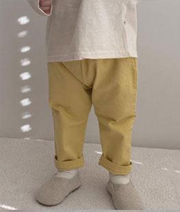 Color Cotton Pants