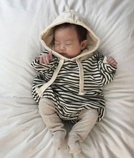 Stripe Hood Suit