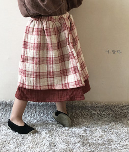 Bonbon Check Skirt